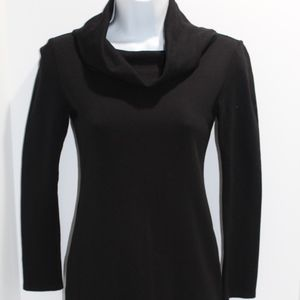 Alice & Olivia Dress Stretch Black L/S Cowl Neck S
